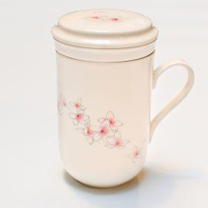 Porcelain Infuser Cup (Flower Design)