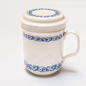 Porcelain Infuser Cup (With Ivy Design)