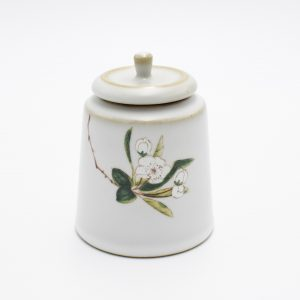Ceramic Tea Canister (White Flower)