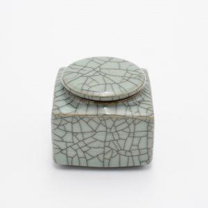 Longquan Ceramic Tea Canister (Square Shape)